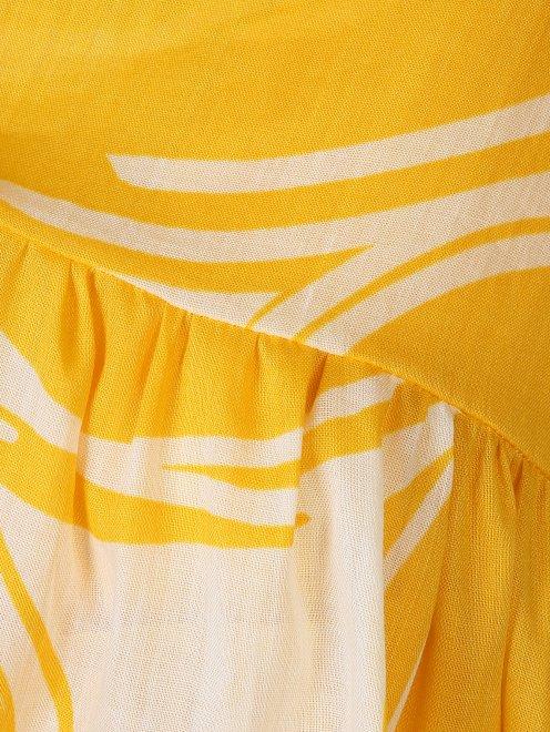 Платье из смесового хлопка свободного силуэта - Деталь