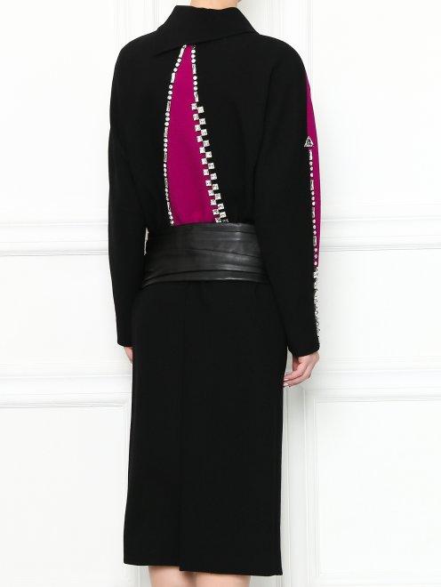 Платье-миди из шерсти с декоративной отделкой - МодельВерхНиз1